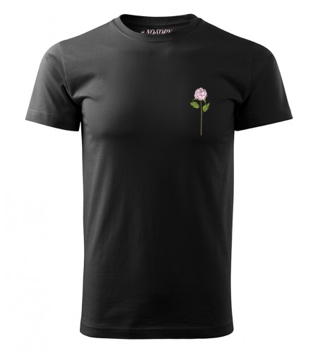 Koszulka unisex no sory haftowana piwonia