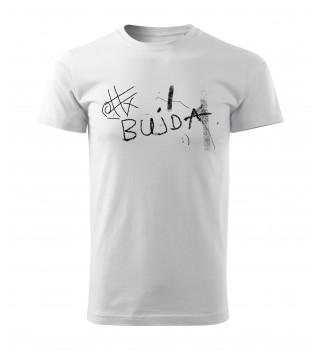 """Koszulka biała grafika  """"Bujda"""""""