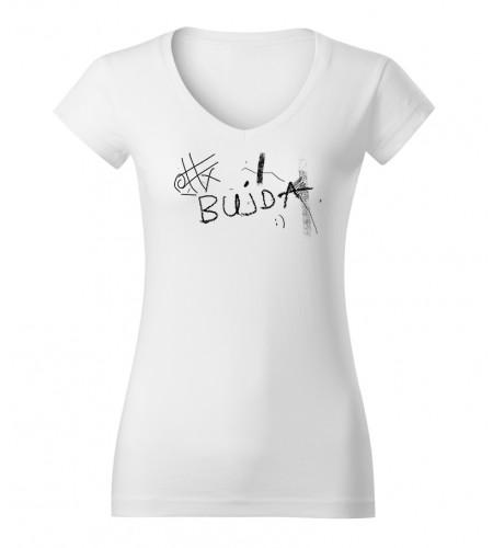 "Koszulka  damska biała grafika ""Bujda"""