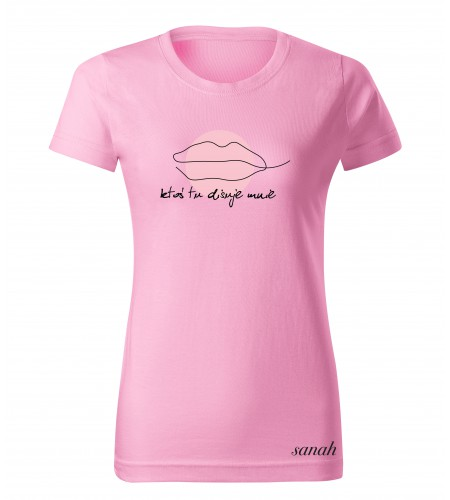 """Koszulka różowa  """"ktoś tu dissuje mnie''"""