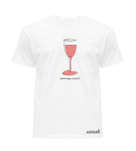 """Koszulka biała """"toast mogę wznieść """""""